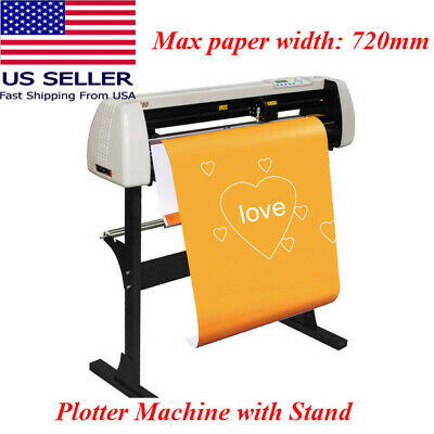 Vinyl Cutter 28 Inch 720 Mm Cutting Plotter Machine Lcd Screen With Accessories