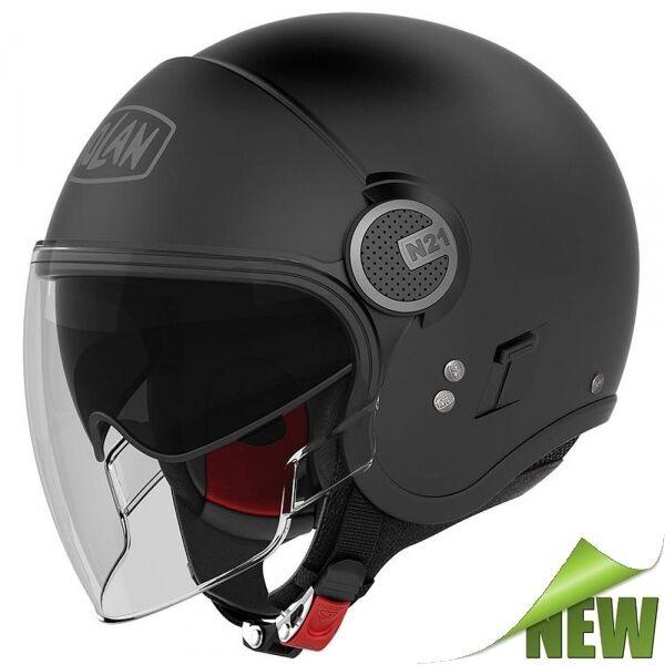 NOLAN N21 Visor Classic jethelm Motorcycle Scooter - Matte Black