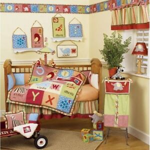 Unisex CoCaLo alphabet soup baby/infant crib set and accessories London Ontario image 1