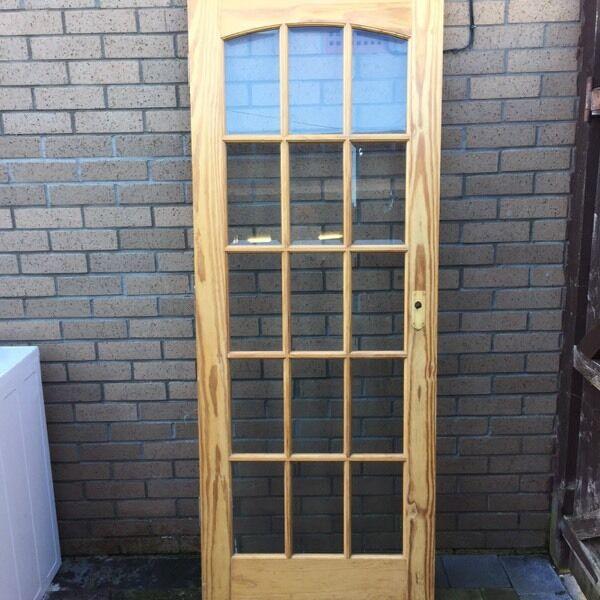 2 Pine 15 Panel Bevelled Glass Doors In Barrhead Glasgow Gumtree