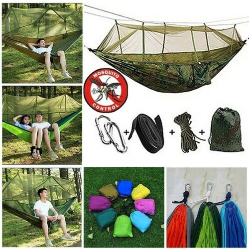 New Premium Parachute Cloth Travel Camping Survival Hammock