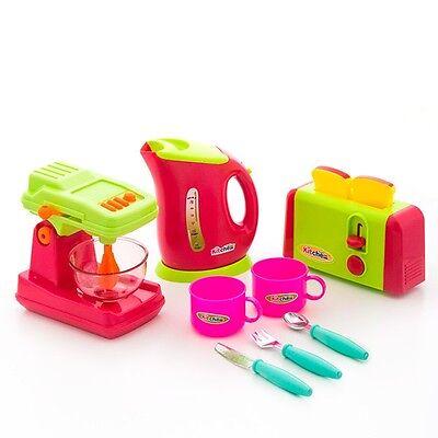 Kinderküche Spielküche Spielset,Kinder Mixer Toaster Küchenmaschine Wasserkocher