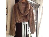 Vintage style faux fur jacket