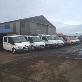 Ford transit tippers, dropsides, lutons, tail lifts and Ivecos