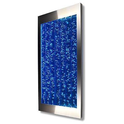 Bubble Panel - Vertical Bubble Panel Wall Mount LED Lighting Indoor Water Feature Fountain 45