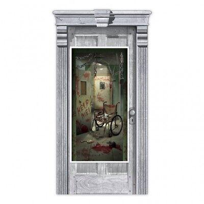 Halloween Party Tür Poster Asylum innen / außen - Halloween Innen Dekoration