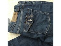 Kangol ladies denim jeans, dp blue, size 14, bootleg brand new with tags