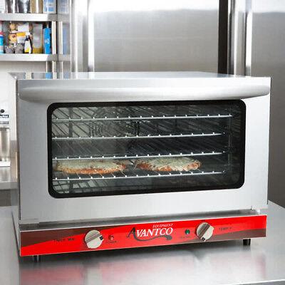 Avantco 12 Size Commercial Countertop Electric 1.5 Cu Ft Convection Oven Baking