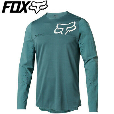 Fox Attack Pro Long Sleeve Cycling Jersey (2018) - Pine Green - Sizes S, M, L Fox Attack Jersey