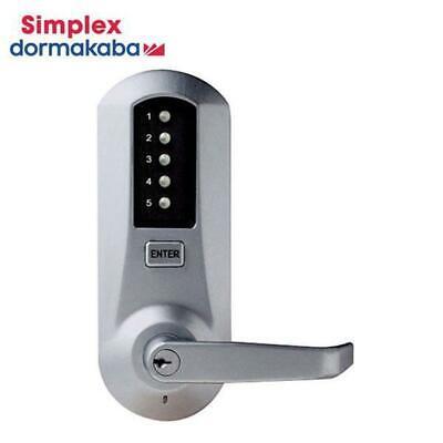 Kaba Simplex 5000 Series Cylindrical Mechanical Pushbutton Lock 5021xswl