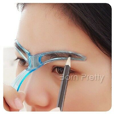 Easy Drawing Eyebrow Makeup Template Eyebrow Stencil Cosmetic (Random Color)