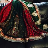 Gorgeous indian net/silk party saree