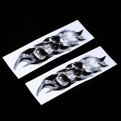 Motorcycle Front Fork Skull Decals Graphic Stickers for Kawasaki Ninja Honda KTM