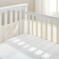 Breathable baby bumper pad for crib