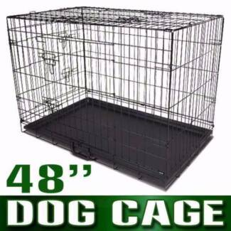 48inch Pet Dog Cat Puppy Rabbit Cage Crate Pen divider,cover,mat