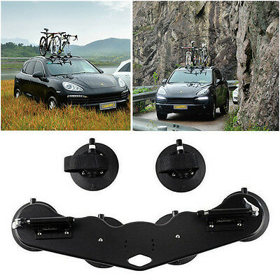 Heavy Duty 2-Bike Fork Mount Roof Rack Bicycle Carrier w/ Rear Wheel Strap Hot