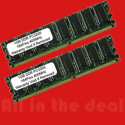 - 2 X 1GB 2GB Kit PC3200 High Density DDR400 Mhz 184pin Desktop MEMORY for AMD