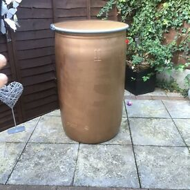 220 litre GOLD/Bronze plastic shipping barrel storage drum