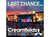 Creamfields Sunday Tickets