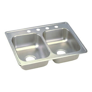 Double Bowl Top Mount - Stainless Steel Sink London Ontario image 2