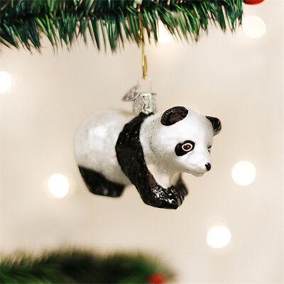 Panda Cub Glass Ornament - Panda Ornament