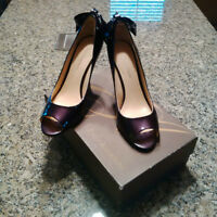 Purple Back Bow Tie Heels