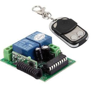 2 Kanal Gate Tor Garage Wireless Opener Öffner Fernbedienung Wechseln+Sender DE