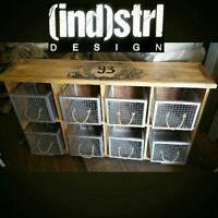 8 Drawer Reclaimed Mangowood Vintage Storage Unit