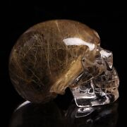 Rutilated Crystal Skull