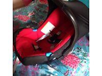 Britax chilli red car seat 0-12 months