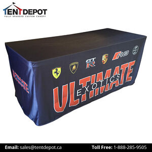 4 Sided Fitted Custom Full Color Table Cover for Tradeshows