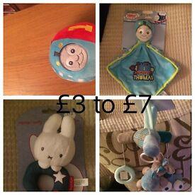 Baby girls and boys toys miffy Thomas nattou wil post