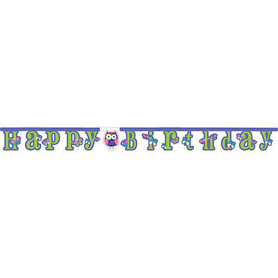 Owl Pal Birthday Party Supplies  Banner - Owl Birthday Supplies