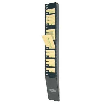 Time Card Rack25 Pockets9 Cards4-12x2x33-12 Black