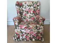 2 PARKER KNOLL ARMCHAIRS - classic style with lugs