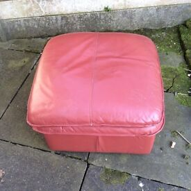 Real leather foot stool