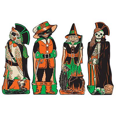 4 Retro Cutout Halloween Decorations 17