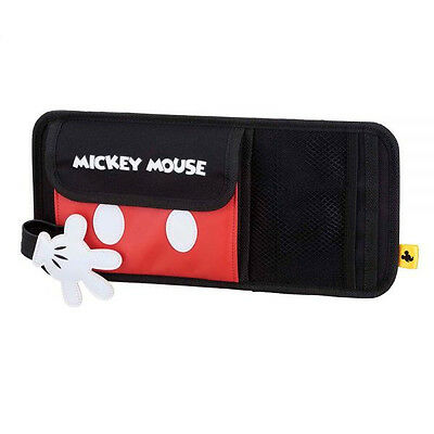 Mickey Mouse Accessories (New DISNEY Mickey Mouse Sun Visor Organizer Holder Storage Car)