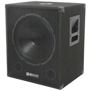 QTX-Sound-QT15SA-15-Active-Powered-600W-PA-DJ-Subwoofer-Sub-Bass-Bin-SINGLE