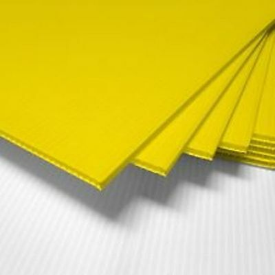25 Pack Yellow Corrugated Blank Sign Sheet 4mm X 18 X 24 Vertical Signs