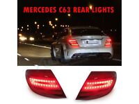 2 X Mercedes C63 C CLASS REAR TAIL LAMPS Facelift Xenon W204 LED LIGHTS AMG