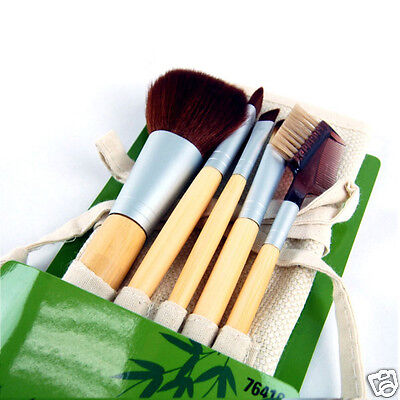 6pcs Makeup Brushes Set Tools Pro Powder,Concealer, Shading, Eyebrow Liner,