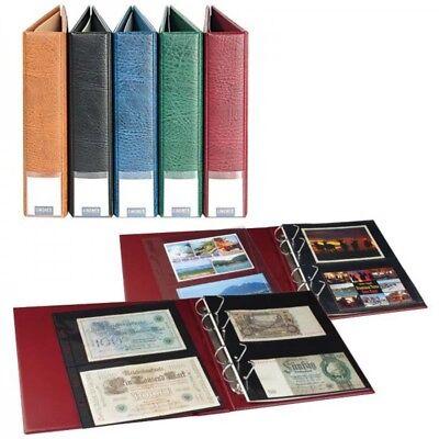 Lindner S3570PB - H LINDNER Luxus-Sammelalbum für Banknoten/Postkarten mit 20 ge