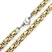 Gold Silver Stainless Steel Chain
