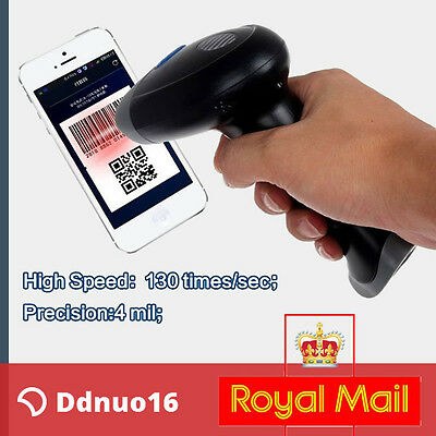 Barcode Scanner 1D 2D DM QR Bar Code Image Scan Reader USB For WinXP/7/8/10 UK