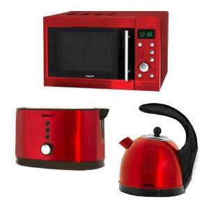 Igenix Metallic Red Microwave Kettle and Toaster - IG2940 / IG7400 / IG3400