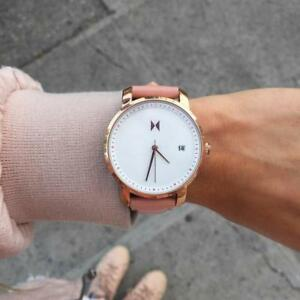 MVMT Watches Rose Gold/ Peach Leather (Brand New)