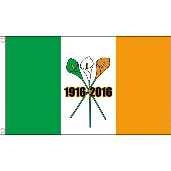 Easter Lily Ireland 1916 - 2016 Flag - 5 x 3 FT - Irish Republican Rebel Rising