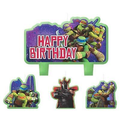 Teenage Mutant Ninja Turtles 4 pc Candle Set Cake Topper - Ninja Turtle Cake Topper