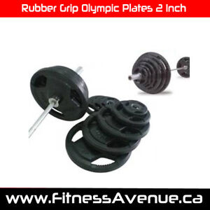 Rubber Grip Olympic Plates 2 Inch – Brand New